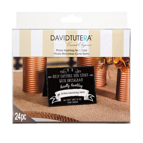 David Tutera Instagram Tent Cards 24 Pieces