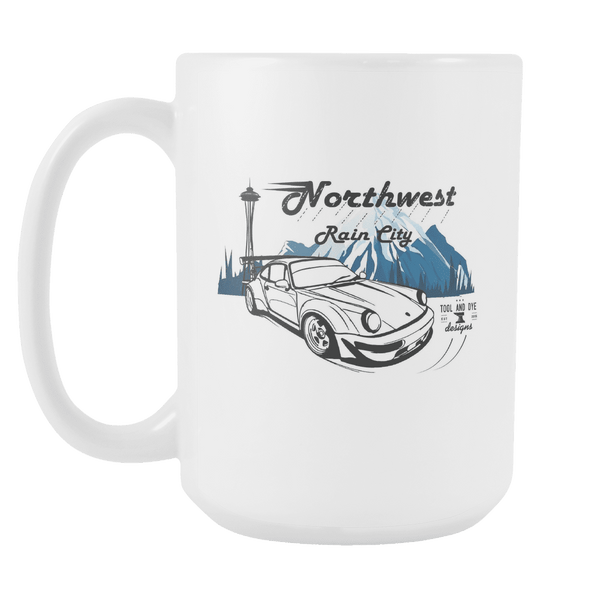 NW Rain City Porsche RWB Coffee Mug white 15 oz