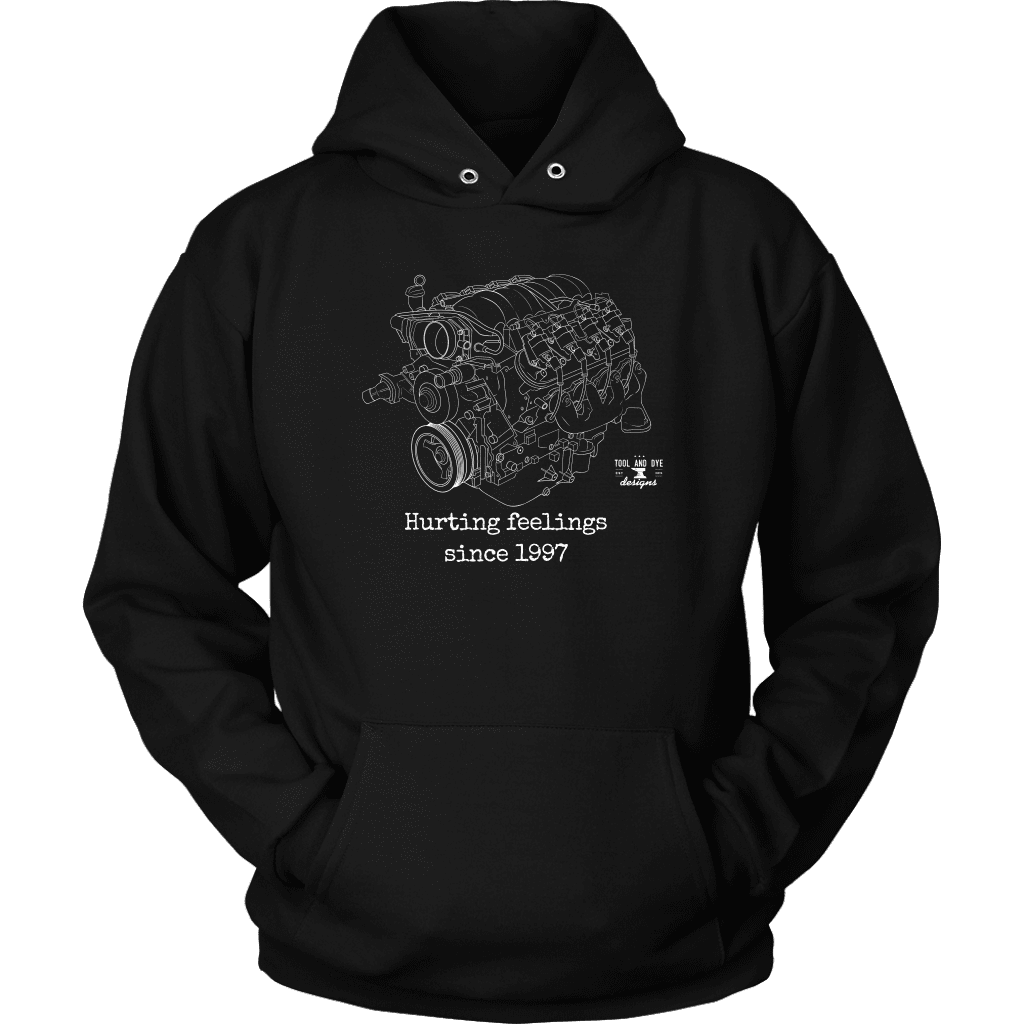 LS Engine Blueprint Illustration Series Hurting Feelings since 1997 Hoodie