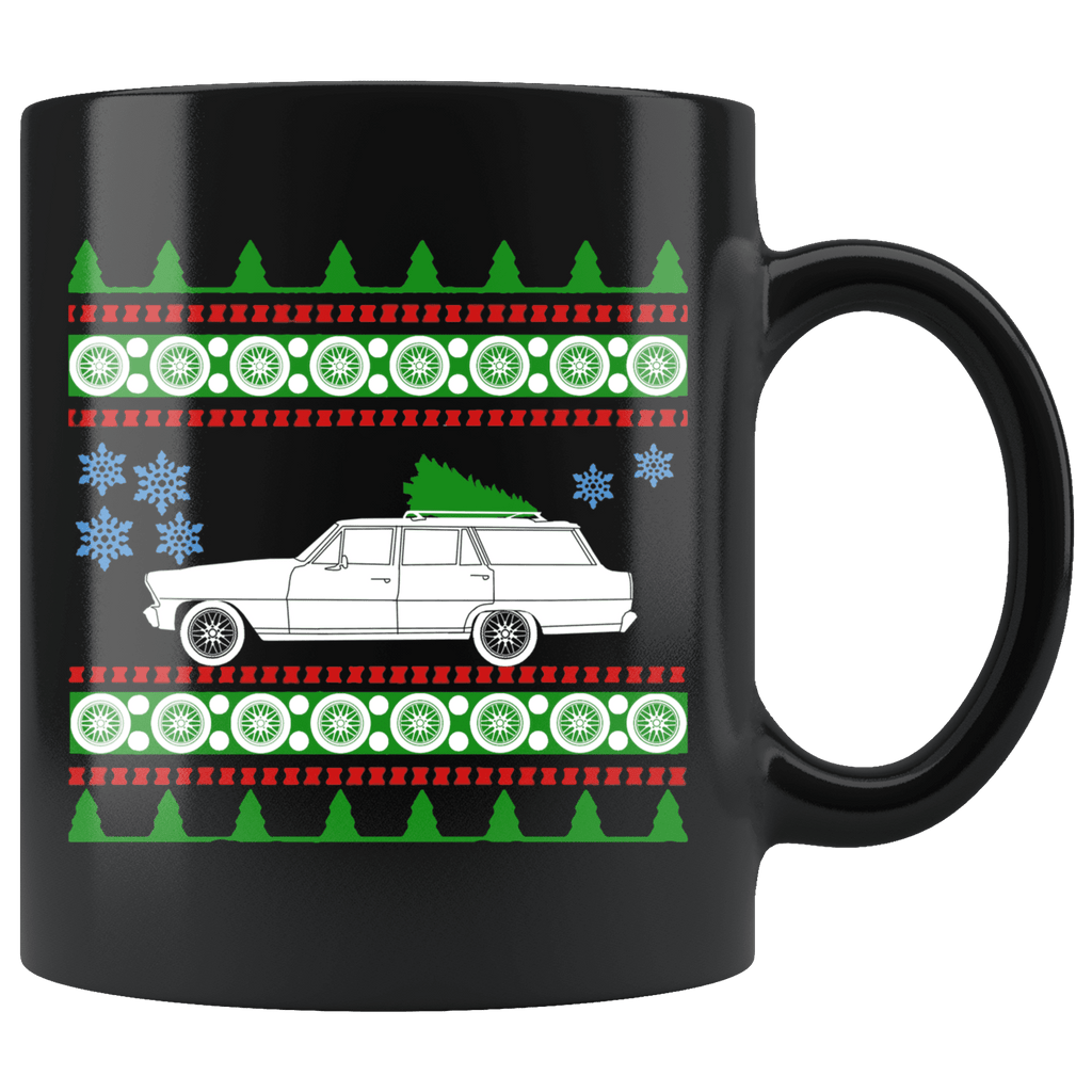 1967 Chevy Nova Wagon Christmas Sweater Mug