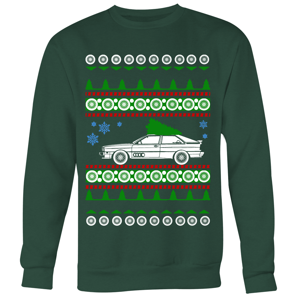 German car Audi UR Quattro Ugly Christmas Sweater, hoodie and long sleeve t-shirt