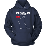 Isle of Man TT Mountain Course Track Outline Series T-shirt and Hoodie