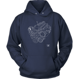 Jeep 4.0 Engine Blueprint Series T-shirt and Hoodie