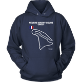 Circuit de Nevers Magny Cours Version 2 Track Outline Shirt and Hoodie