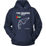 Yas Marina Circuit Abu Dhabi Race Track Outline Series T-shirt and Hoodie