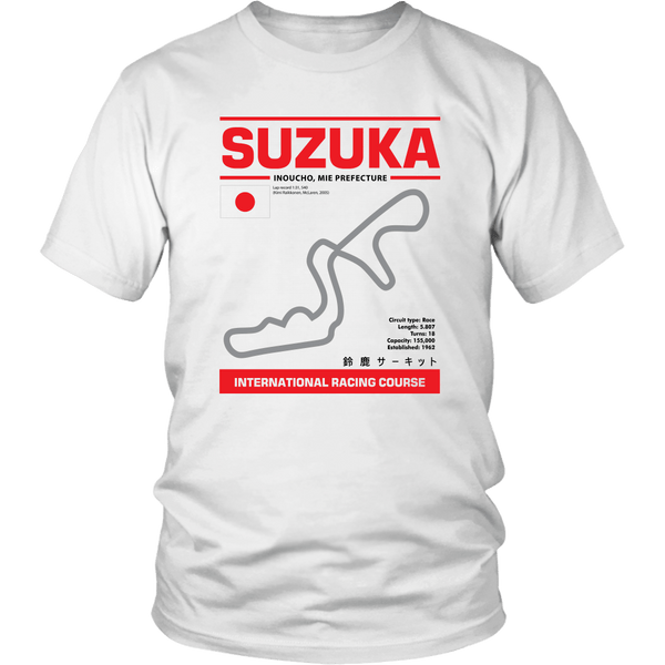 Suzuka International Racing Course Race Track Outline Series T-shirt Ver. 4