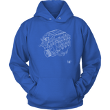 Engine Blueprint Series LS9 T-shirt or Hoodie