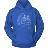 Engine Blueprint Series Ford 300 Inline 6 T-shirt or Hoodie