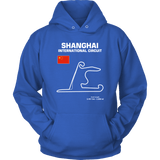 Shanghai International Circuit Race Track Outline Series T-shirt or Hoodie