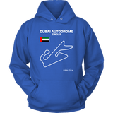 Dubai Autodrome Circuit Track Outline Series T-shirt and Hoodie