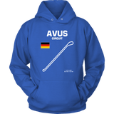 Avus Circuit Germany Race Track Outline Series T-shirt and Hoodie