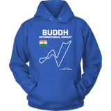 Buddh International Circuit Racetrack Outline Series T-shirt and Hoodie