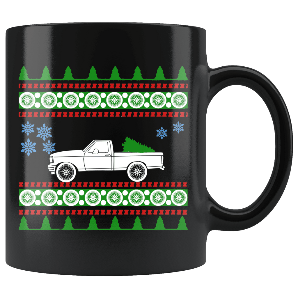 1995 Ford Lightning F-150 Truck Ugly Christmas Sweater Mug