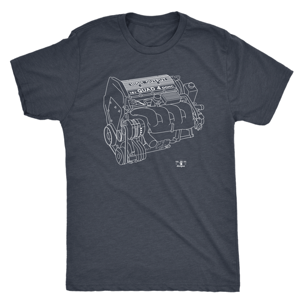 GM Quad 4 High Output Engine Blueprint Series T-shirt