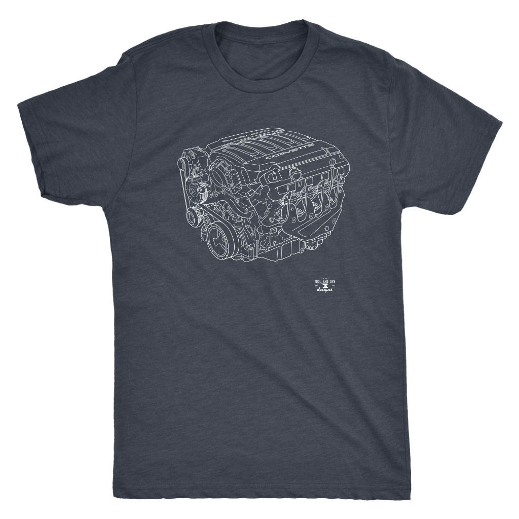 Engine Blueprint Series LT1 Corvette T-shirt and Hoodie