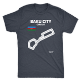Baku City Circuit Track Outline Series T-shirt and Hoodie