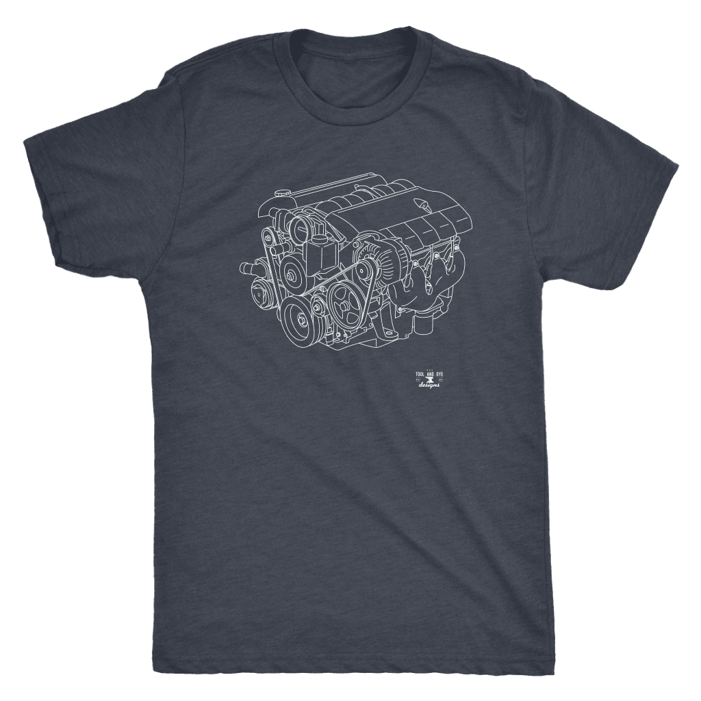 LS2 Engine Blueprint Illustration Series T-shirt