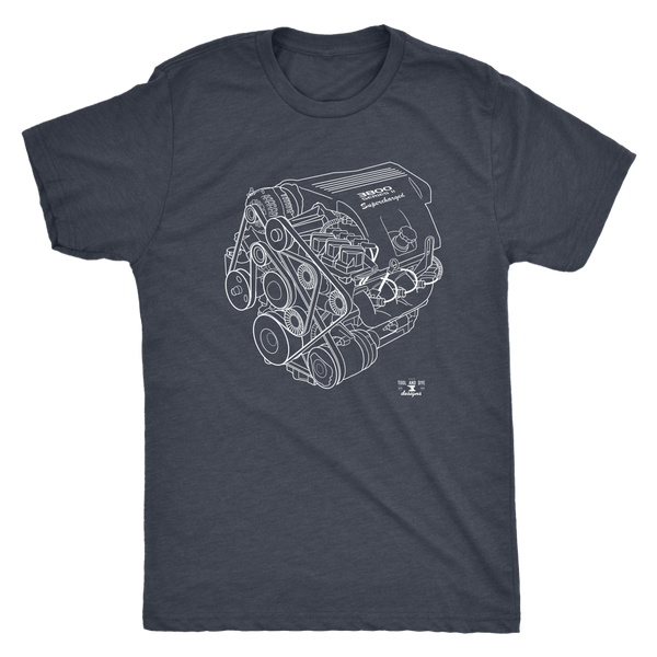 L67 Series 2 3800 Supercharged GM Engine Blueprint Series T-shirt