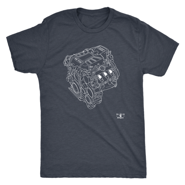 Engine Blueprint Series Audi V6 TFSI T-shirt and hoodie