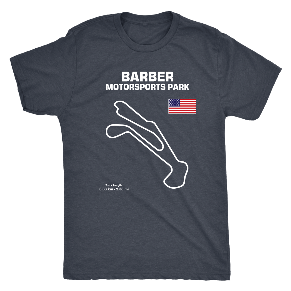Track Outline Series T-shirt and Hoodie Barber Motorsports Park