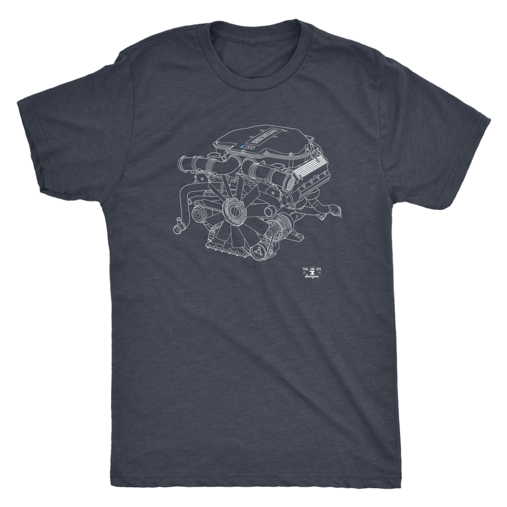 Engine Blueprint Series S62 BMW E39 M5 T-shirt and Hoodie
