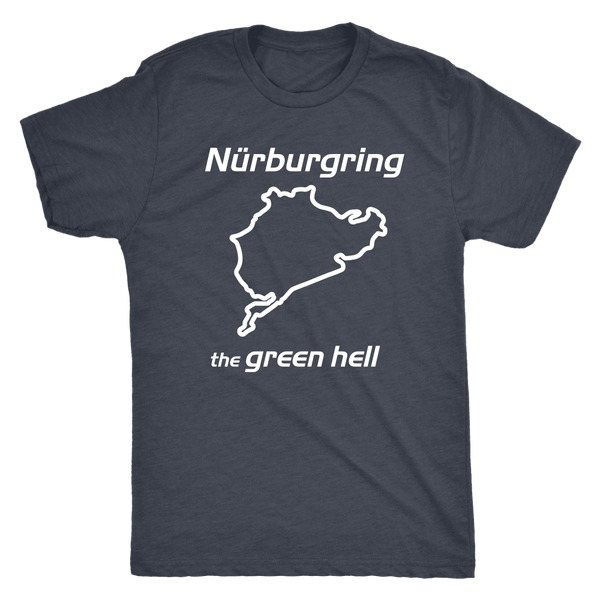 Nurburgring The Green Hell Track Outline t-shirt
