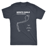 Monte Carlo Circuit De Monaco Race Track Outline Series T-shirt