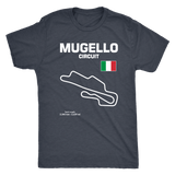 Mugello Circuit Racetrack Outline Series T-shirt and Hoodie