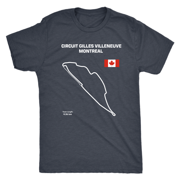Gilles Villeneuve Montreal Circuit Track Outline shirt version 2