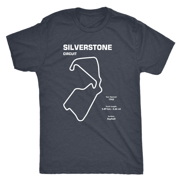 Silverstone Circuit Race Track Outline Series T-shirt