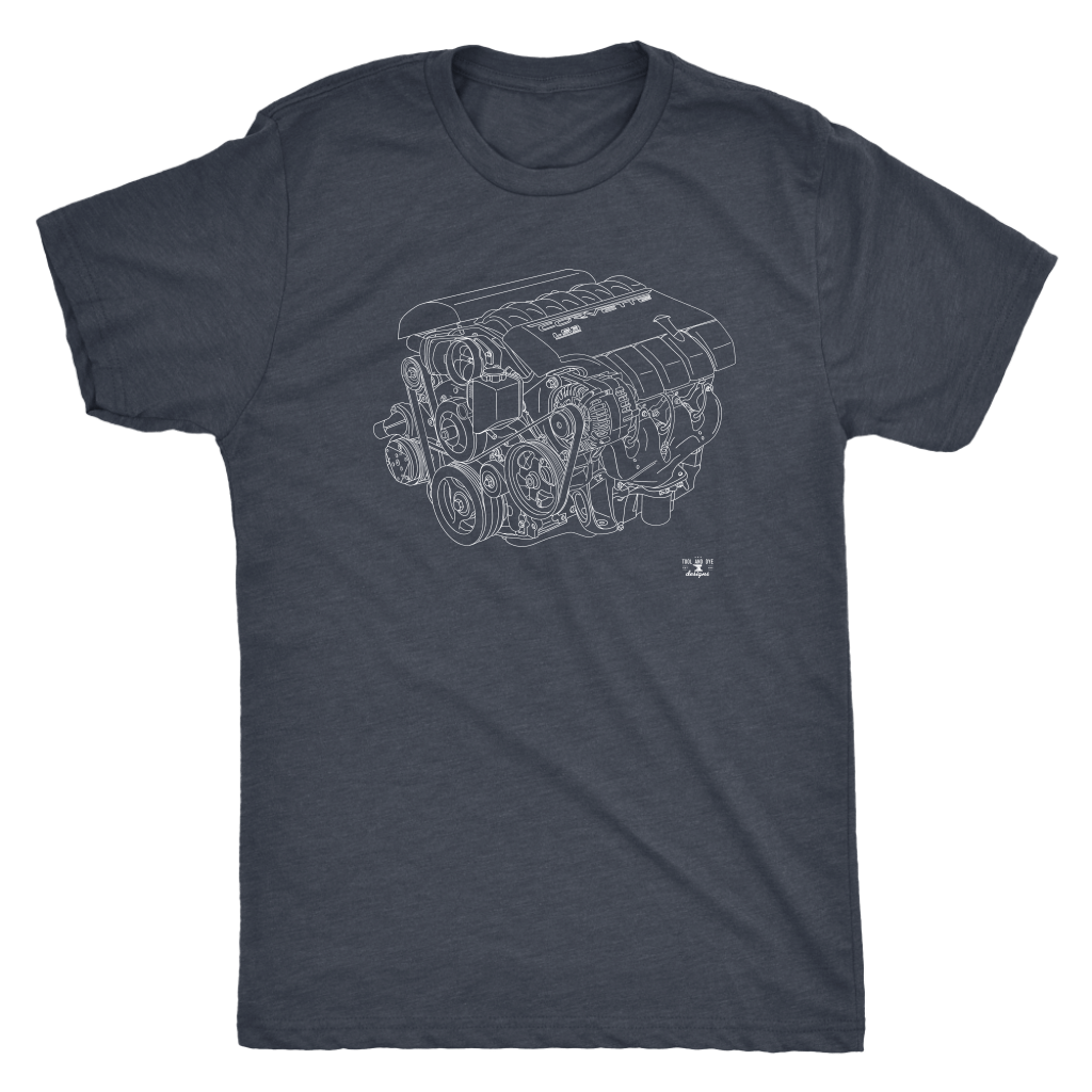 Engine Blueprint Series LS3 Corvette V8 T-shirt and Hoodie