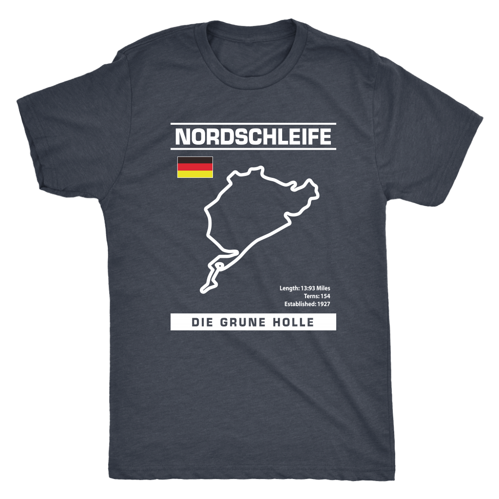 "Nordschleife ""Die Grune Holle"" Track Outline Series Shirt and Hoodie"