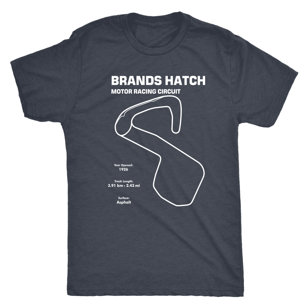 Brands Hatch Motor Racing Circuit Track Outline Series T-shirt