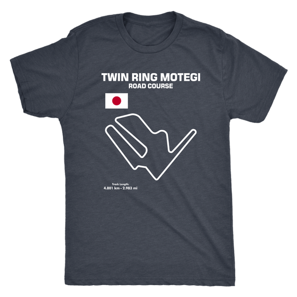 Twin Ring Motegi Road Course Track Outline Series T-shirt and Hoodie