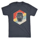 Vintage Retro Welding Helmet Icon T-shirt and Hoodie