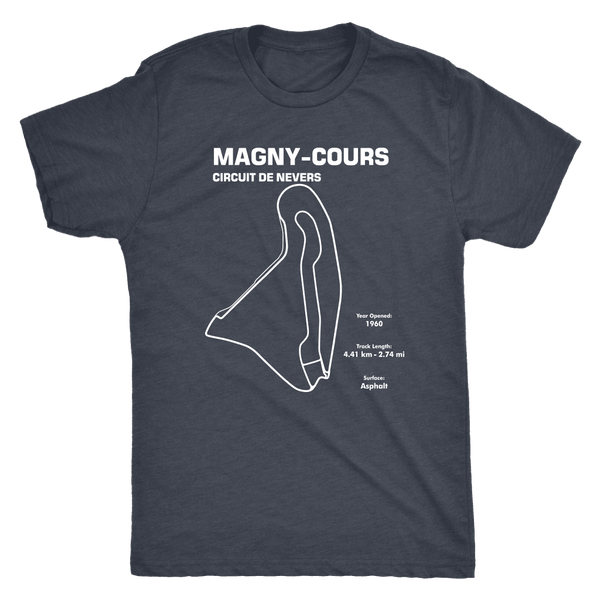 Circuit De Nevers Magny Cours Track Outline Series Race Track Shirt