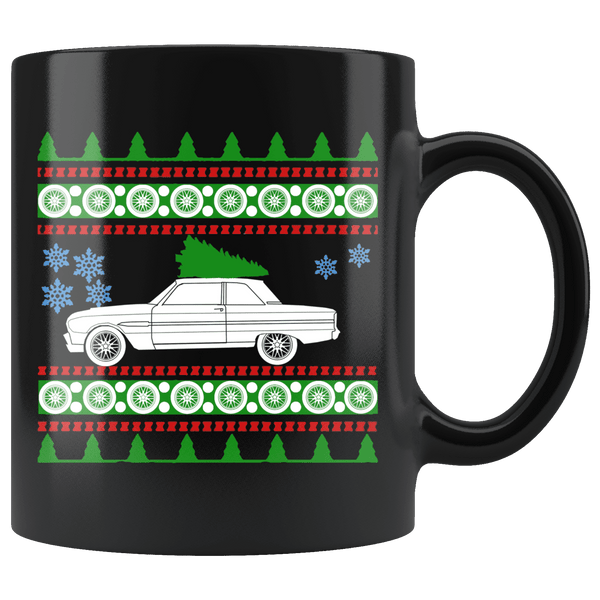 1963 Ford Falcon Christmas Sweater Mug