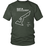 Circuit of the America's COTA Race Track Outline Series T-shirt