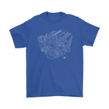 Chevy LT4 Engine Blueprint Illustration T-shirt