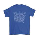 BMW M5 S85 Engine Blueprint Illustration Series T-shirt