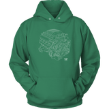 Dodge Hellcat Engine Blueprint Series Hoodie