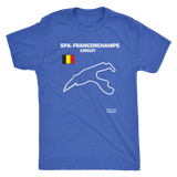 Circuit de Spa-Francorchamps Track Outline Series T-shirt and Hoodie