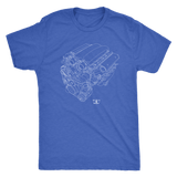 Dodge Viper V10 Engine Blueprint Illustration Series T-shirt