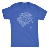 Dodge Hemi 392 6.4L Engine Blueprint Illustration Series T-shirt