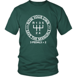 Save the Manuals Row Your Own Gears T-shirt
