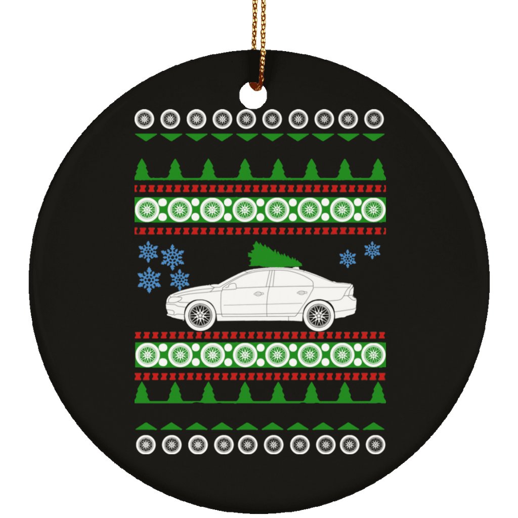 Volvo S80 second gen Ugly Christmas Sweater ornament 2008