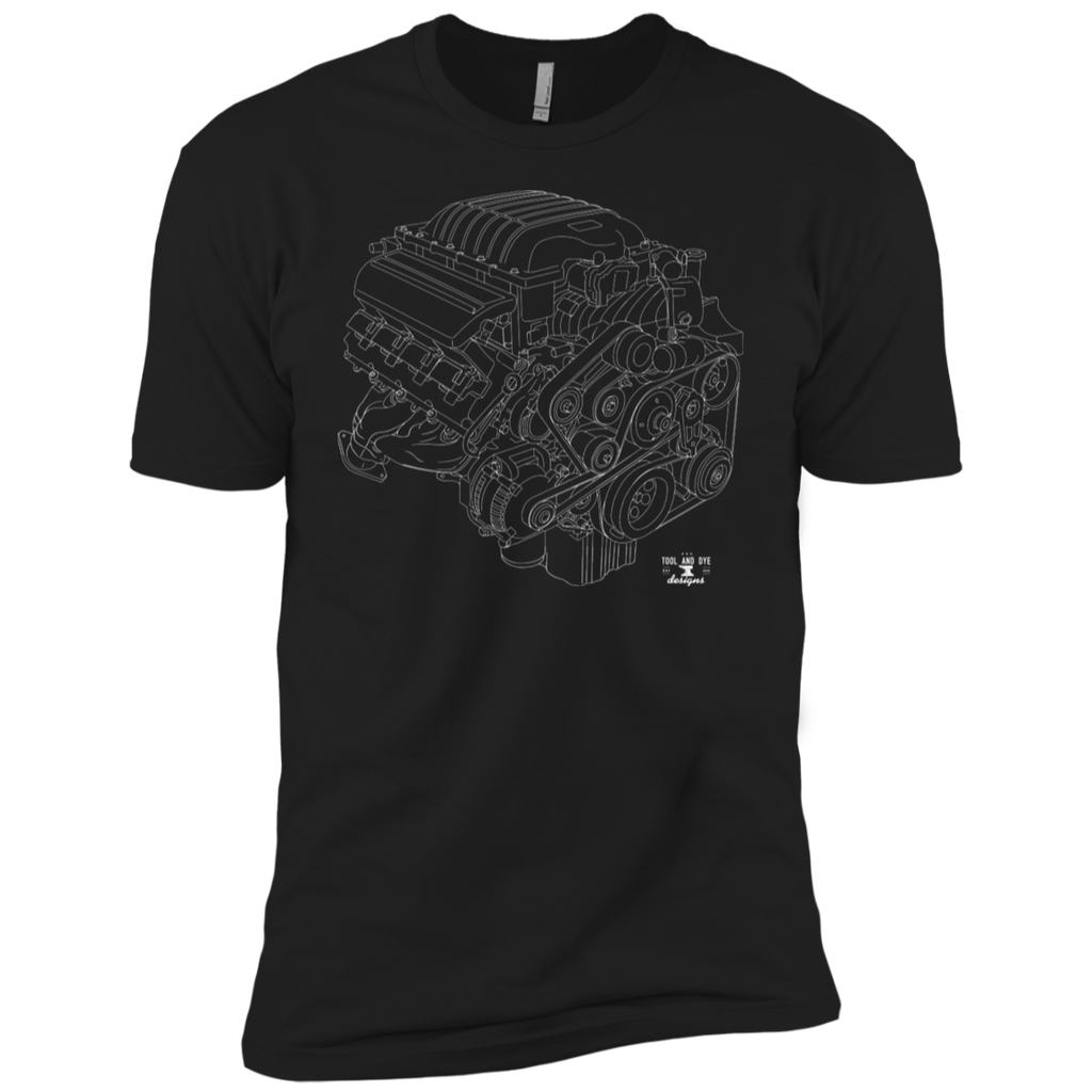 Kids Engine Blueprint Hellcat 6.2L t-shirt