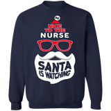 Be Nice to the Nurse Ugly Christmas Sweater Sweatshirt