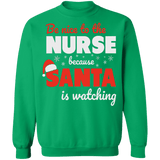 Be Nice to the Nurse 2 Ugly Christmas Sweater Sweatshirt