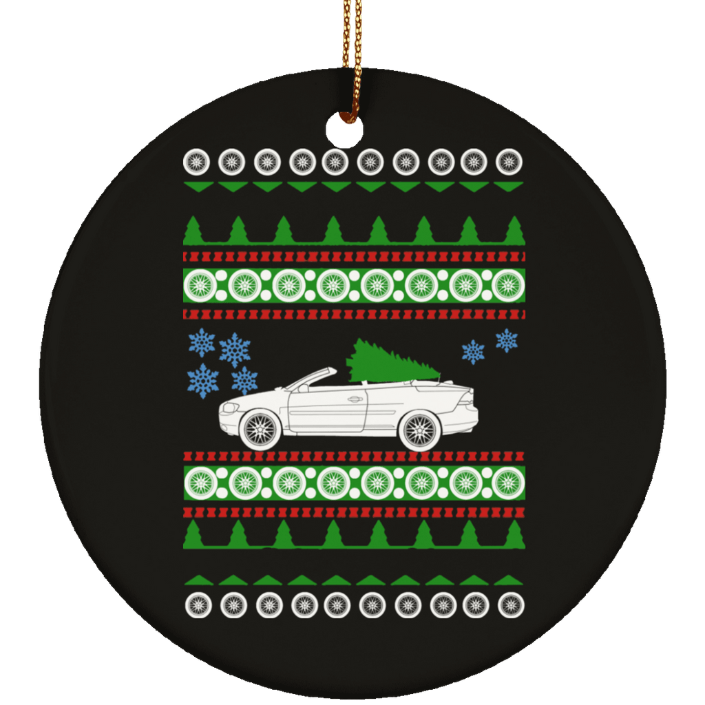 Volvo C70 Convertible ugly Christmas Sweate Ornament
